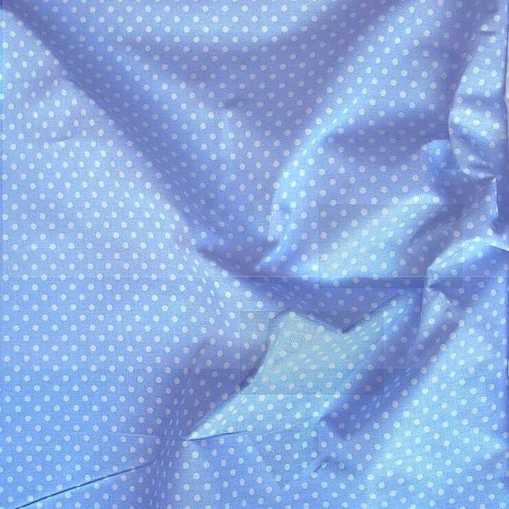e8d3bb7702 Világoskék apró pöttyös pamut vászon | Textilpont Lakástextil Webáruház