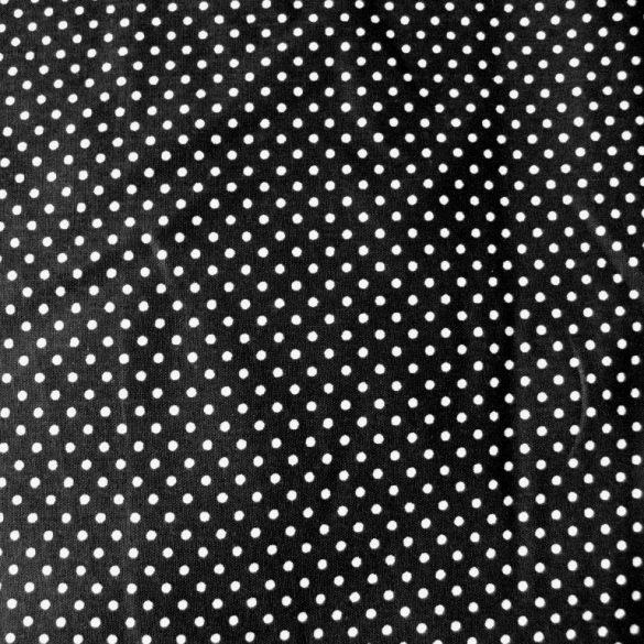 Fekete apró pöttyös pamut vászon