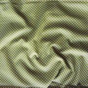 Olivzöld apró pöttyös pamut vászon