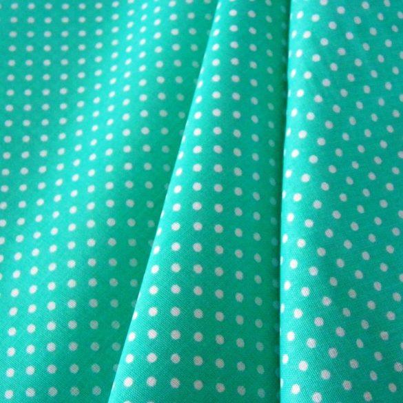 Biscay green, tengerzöld apró pöttyös pamutvászon