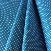 Mosaic blue, középkék apró pöttyös pamut vászon