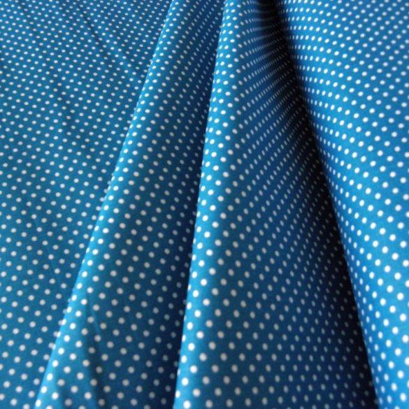 Mosaic blue, középkék apró pöttyös pamutvászon