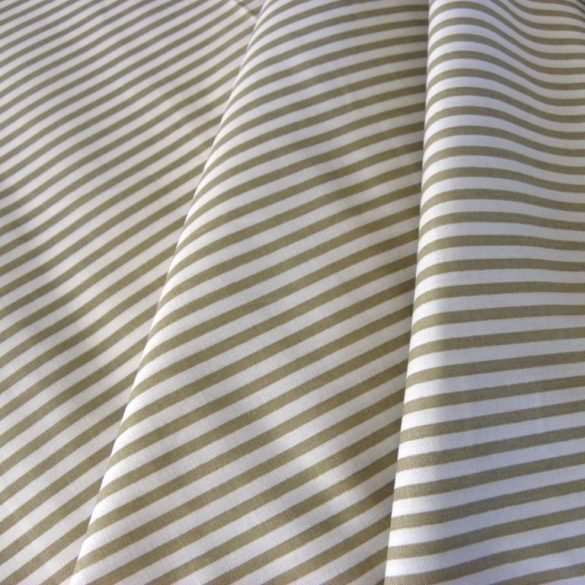 STRIPE, csíkos pamut vászon méteráru, drapp