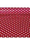 Lila pöttyös pamut vászon, maradék darab: 0,4 m