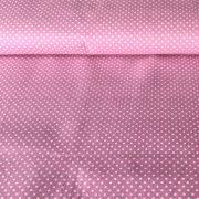 Mauve, lilásrózsaszín pöttyös pamut vászon