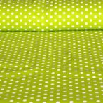 Kiwizöld pöttyös pamut vászon