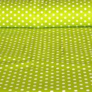 Kiwizöld pöttyös pamutvászon