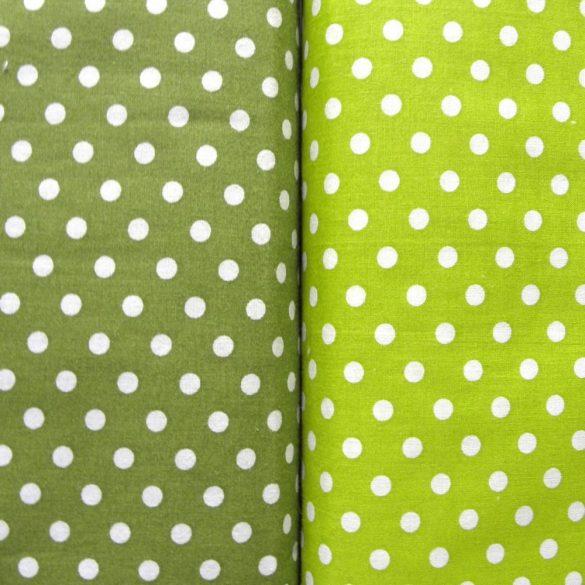 Zöld pöttyös pamut vászon