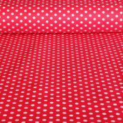 Piros pöttyös pamut vászon