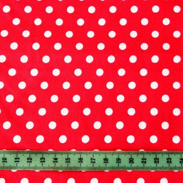 Piros pöttyös pamutvászon
