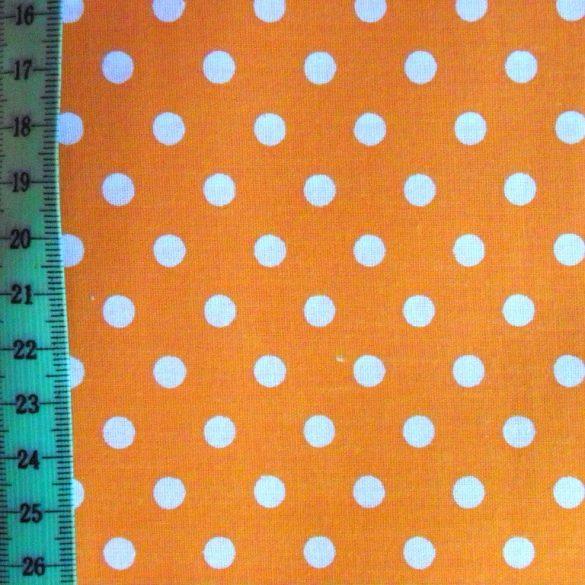 Narancssárga pöttyös pamut vászon