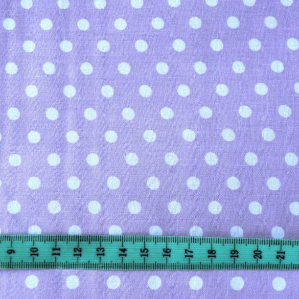 Levendulalila pöttyös pamut vászon