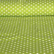 Limezöld pöttyös pamut vászon