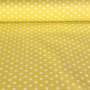 Mustársárga pöttyös pamut vászon