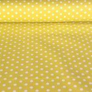 Mustársárga pöttyös pamutvászon