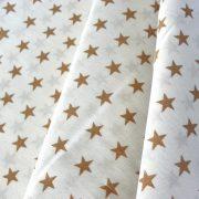 STAR, drapp csillag mintás fehér pamut vászon