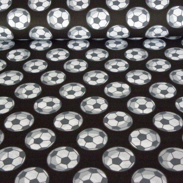 FOCILABDA mintás pamutvászon - fekete-fehér