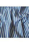 STRIPE, csíkos pamut vászon méteráru, kék