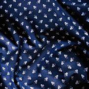 Kékfestő aprómintás kék pamutvászon