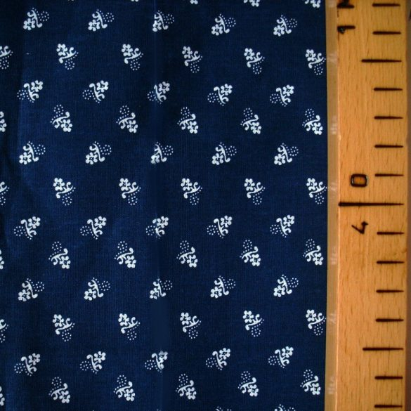 Kékfestő aprómintás kék pamut vászon