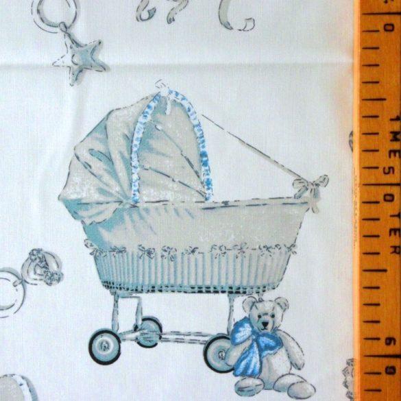 KID, kék babamintás pamutvászon méteráru