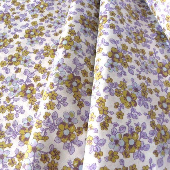 BARACKVIRÁG, virágmintás pamutvászon méteráru, lila