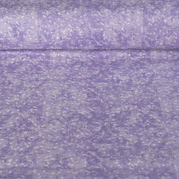 MOOD, márványos, apró leveles pamutvászon, lila