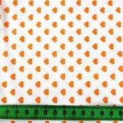 Írisz narancssárga szíves pamutvászon