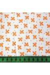Írisz narancssárga masnis pamutvászon