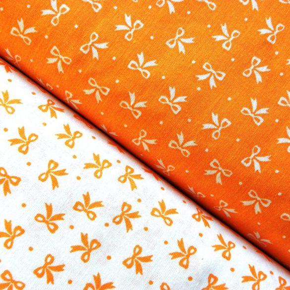 Írisz masnis, narancs pamutvászon