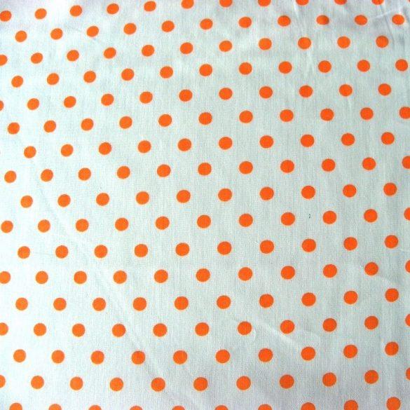 Írisz narancs pöttyös pamutvászon