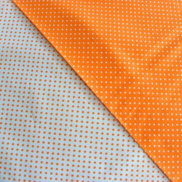 Írisz narancs aprópöttyös pamutvászon