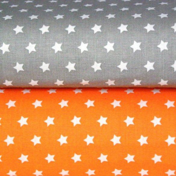 Írisz fehér csillagos narancssárga pamutvászon
