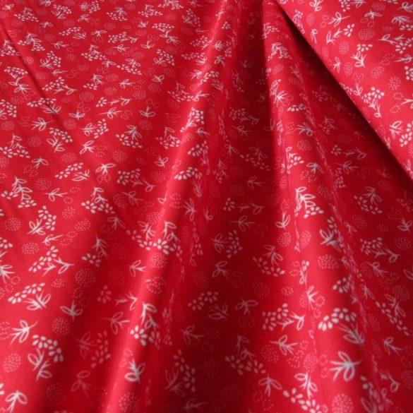 PIPITÉR, piros, kékfestő mintás pamut vászon