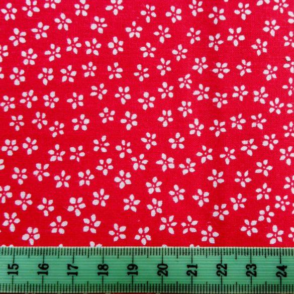 Florett apró virágos piros pamutvászon