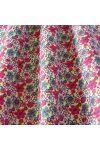 GRÉTI, virágmintás pamutvászon méteráru, pink