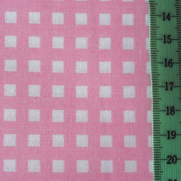 Írisz kockás rózsaszín pamutvászon