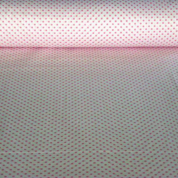 Írisz rózsaszín aprópöttyös pamutvászon