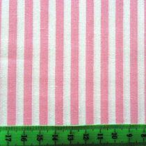 Írisz rózsaszín csíkos pamutvászon