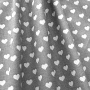 Heart, szívecske mintás pamutvászon, szürke