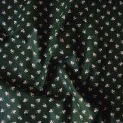 Kékfestő aprómintás zöld pamutvászon