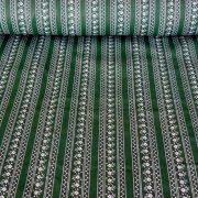 JULISKA, csíkos kékfestő mintás pamut vászon, zöld