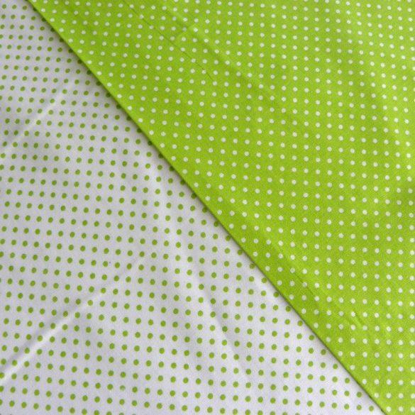 Írisz tavasz-zöld aprópöttyös pamutvászon