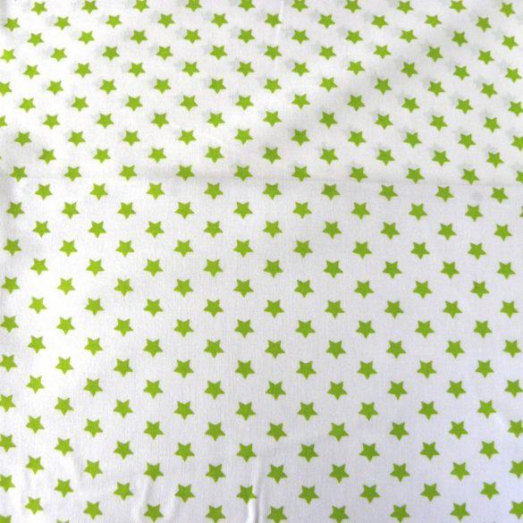 Írisz tavasz-zöld csillagos pamutvászon