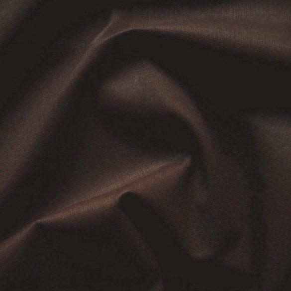 Uni, egyszínű pamutvászon, sötétbarna, csokoládébarna