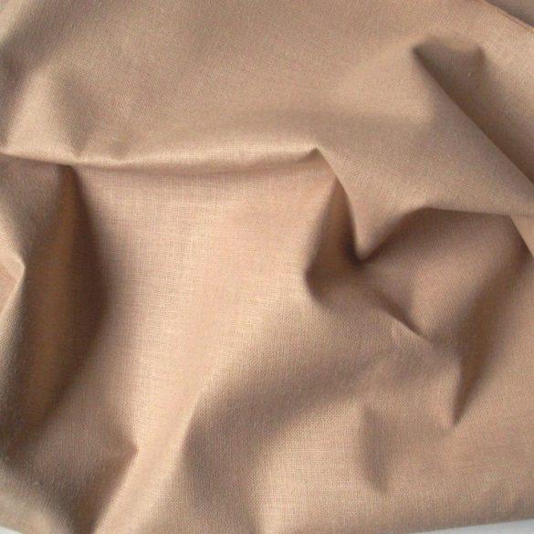 Uni, egyszínű pamut vászon, drapp