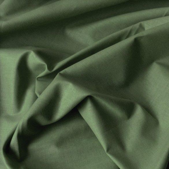 Uni, egyszínű pamutvászon, mohazöld