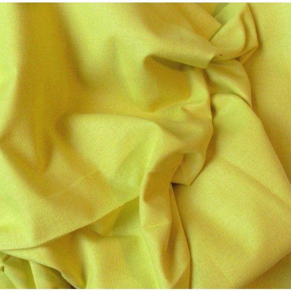 Uni, egyszínű pamut vászon, citromsárga