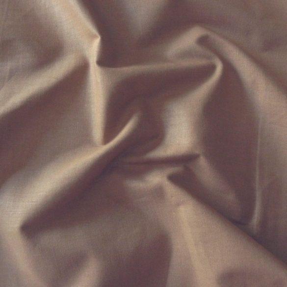 Uni, egyszínű pamut vászon, camel, tevebarna, világosbarna