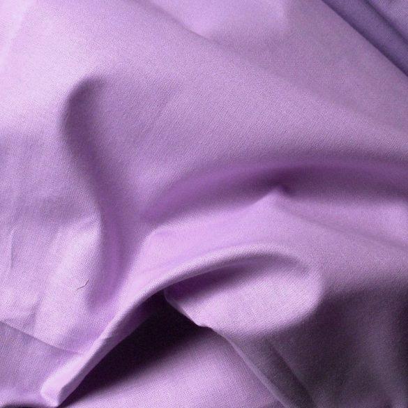 Uni, egyszínű pamutvászon, világos lila